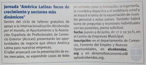 """""""AMÉRICA LATINA: FOCOS DE CRECIMIENTO Y SECTORES DE OPORTUNIDAD"""""""